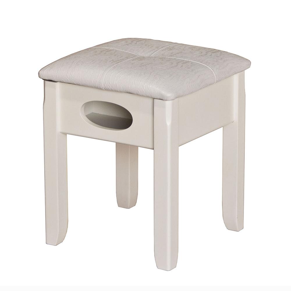 예원 수납의자 화장대의자 피아노의자 보조의자 스툴의자 콘솔의자 의자, 아이보리