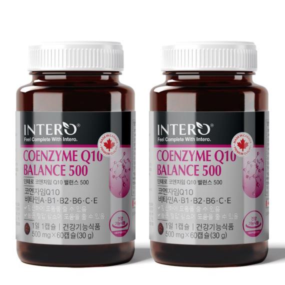 인테로 코엔자임 Q10 큐텐 항산화 영양제 코큐텐 캐나다, 2박스, 60캡슐