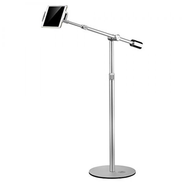 Suptek 알루미늄 태블릿지면 대 360 ° iPad iPhone Samsung Asus를위한 가동 가능한 고도 조정 가능한 셀룰라 전화, 단일상품, 단일상품