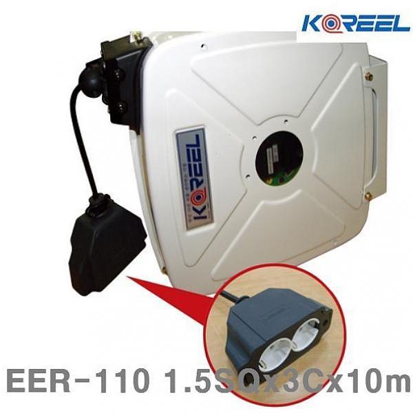 은하마켓 삼국 자동전선릴 EER-110 1.5SQx3Cx10m 10A 12kg 1EA 전기연장선 릴선, 1, 1