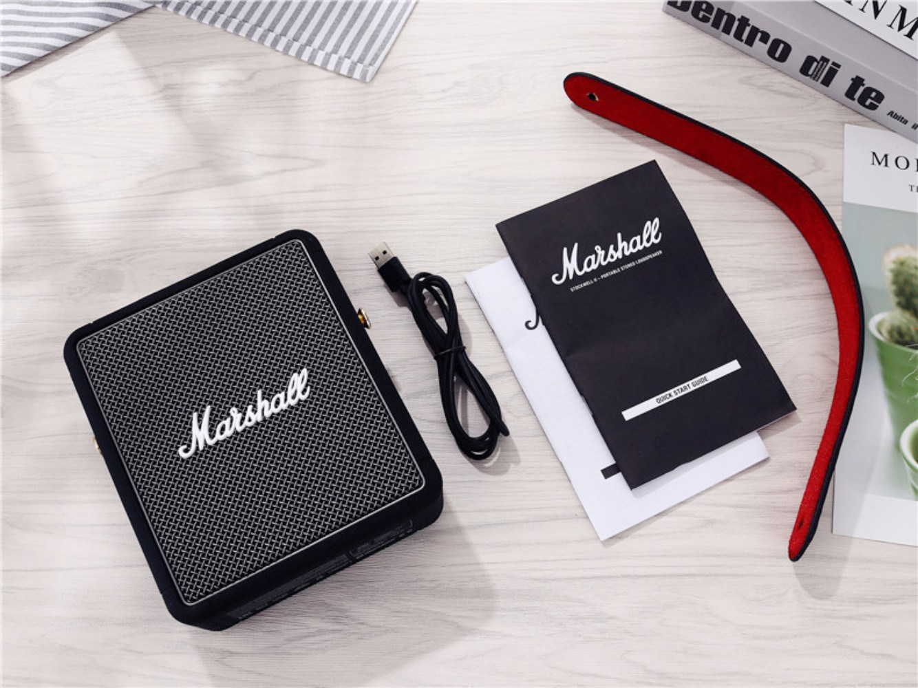마샬스톡웰 고급 블루투스스피커 무선 레트로 클래식 심플 휴대용, 표준 + StockweLLLL2세대블랙+오디오케이블