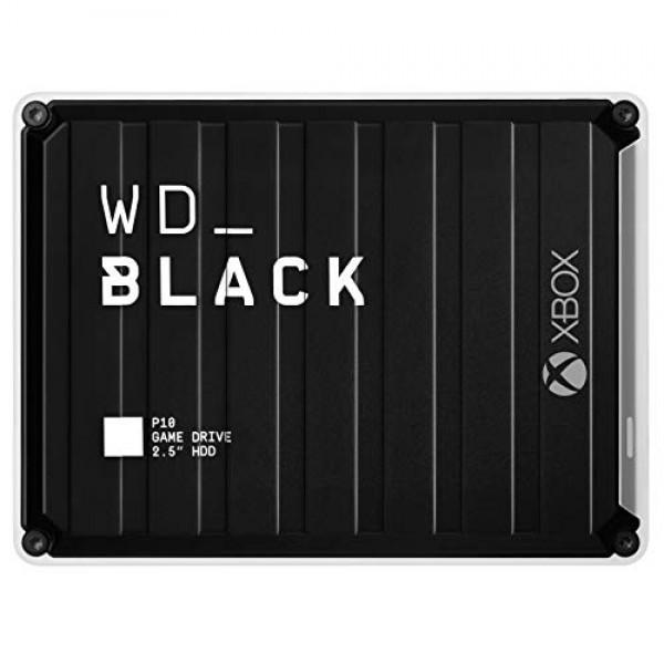 Xbox 5TB 용 WD_Black P10 게임 드라이브 (2 개월 Xbox Game Pass Ultimate 최대 140MB / s Xbo, 단일상품, 단일상품