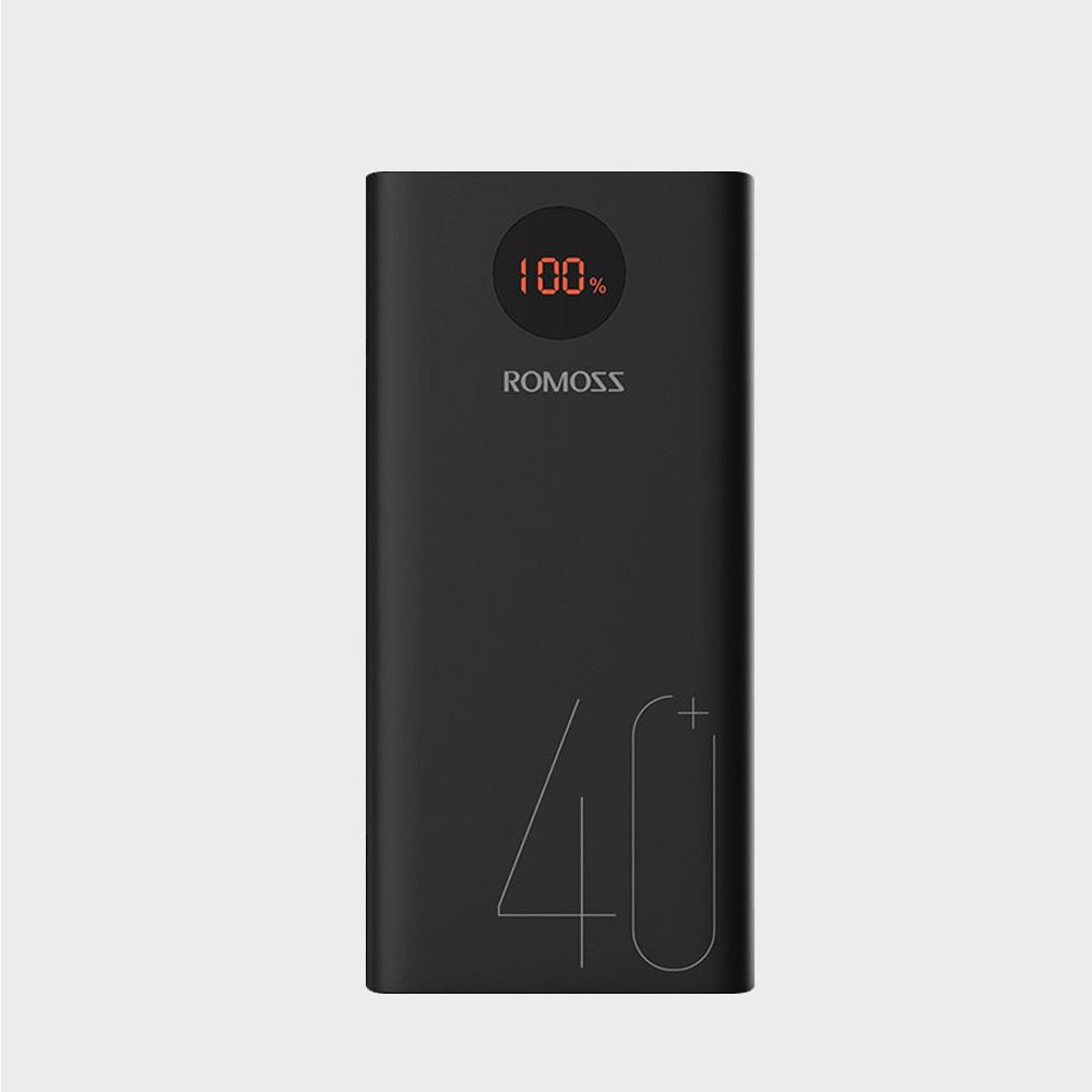 로모스 PEA40 대용량 고속충전 보조배터리 40000mAh 노트북충전, 블랙