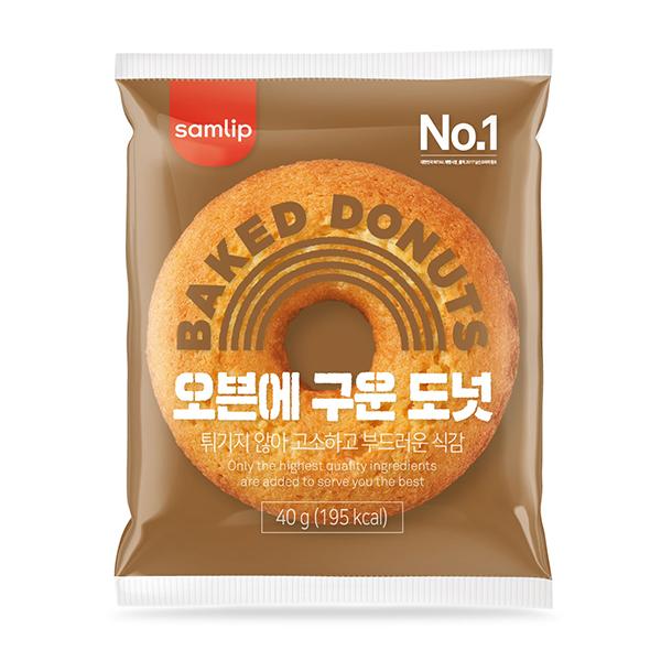 에스피씨삼립 오븐에 구운 도넛 15개(개별포장), 40g, 15개