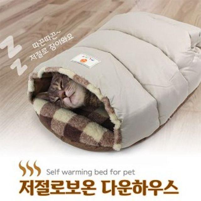 하우스 보온 숨숨집 겨울 침대 방석 매트 쿠션 개집 캣타워 장난감 용품, 상세페이지참조()