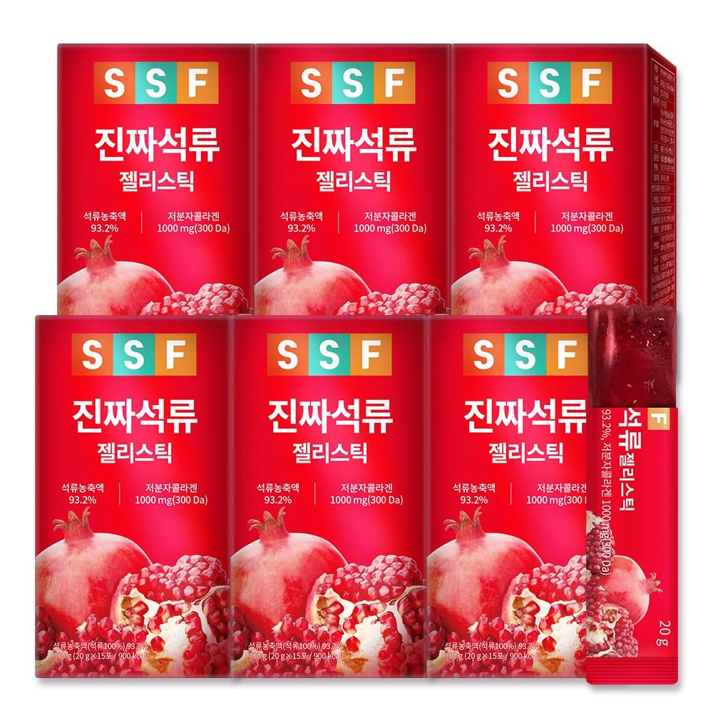 순수식품 진짜 석류 저분자 콜라겐 젤리 스틱 6박스(90포) 300달톤 초저분자 피쉬, 90개, 20g