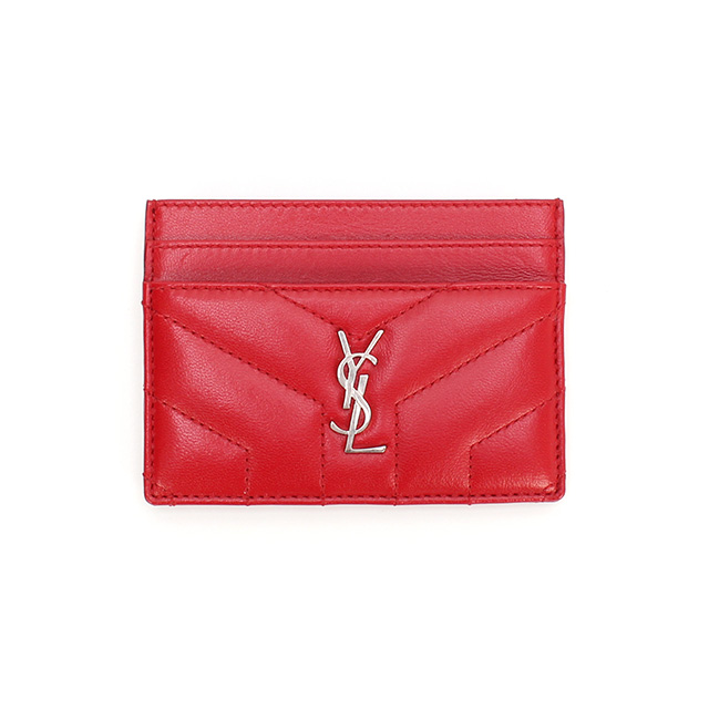 YSL 생로랑 루루 카드지갑 504958 레드(은장)