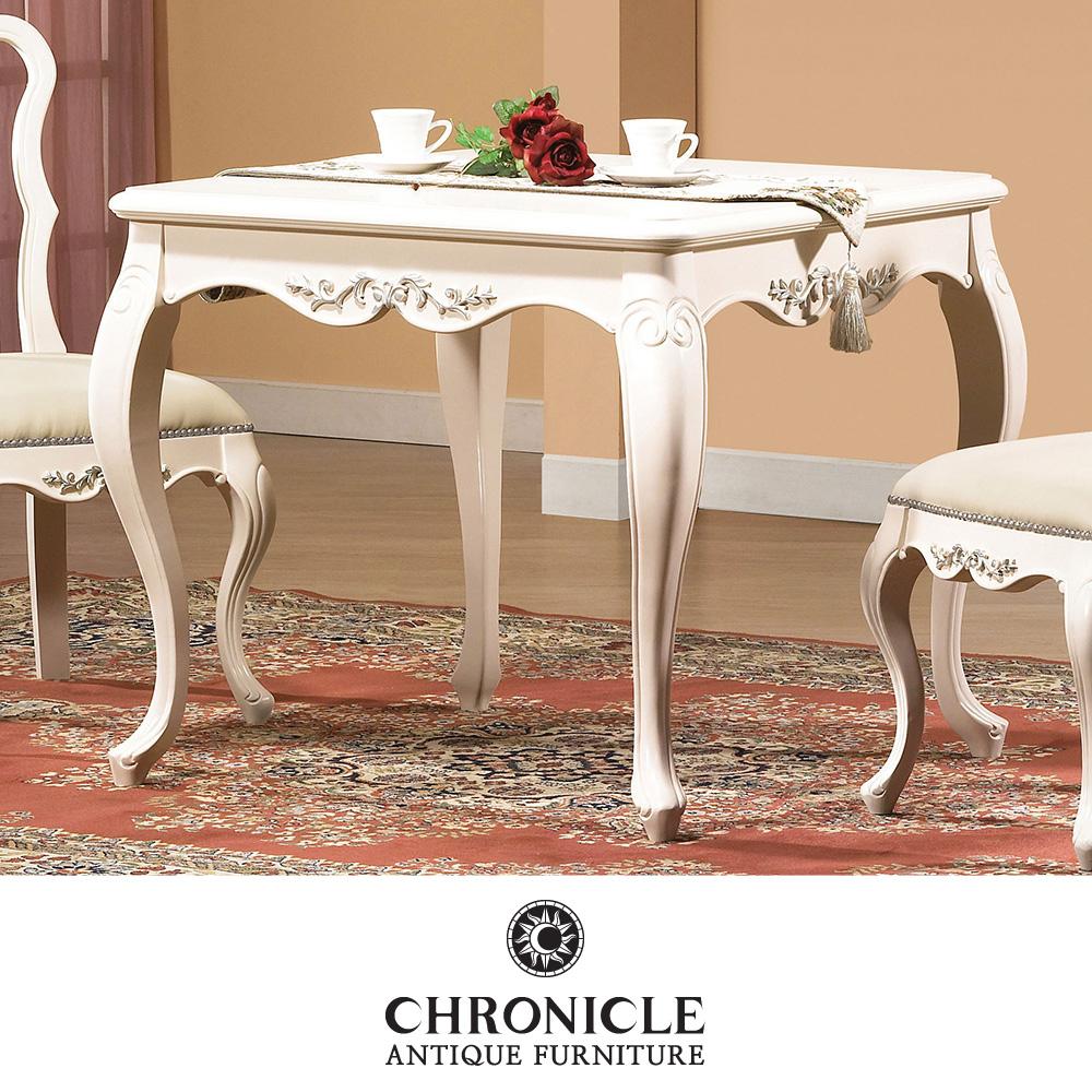 크로니클 화이트엔틱 신혼가구 세라끄 2인식탁 테이블 CSC-6061