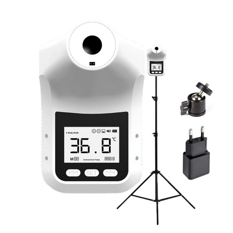 [스탠드/전원코드 포함][6시이전 주문 당일출고/익일도착/ 한국어지원/무상AS] 비접촉 온도계 벽걸이 스탠드 온도계 발열체크기 비접촉식 온도측정기 K3Pro HK3 k9, K3Pro(한국어)+프리미엄삼각대+상시전원케이블(포함)-5-4964214922