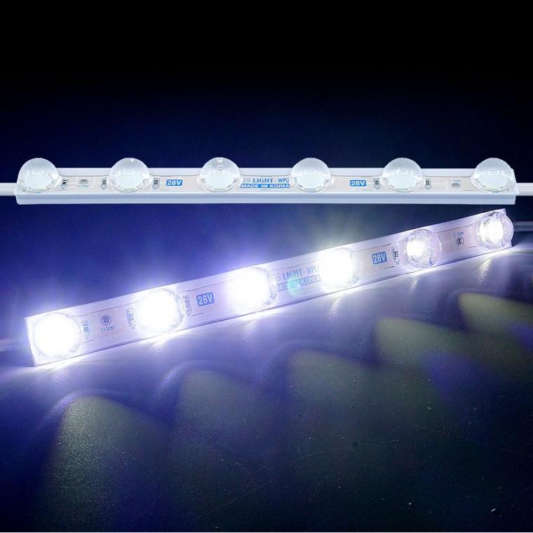 LED바 6구모듈 화이트LED 국산24V용 렌즈형 5050 3칩 - (1개가격) 추천 파는곳, 상세페이지 참조