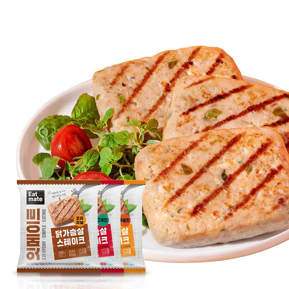 잇메이트 닭가슴살 스테이크 혼합구성 100gx30팩(3kg), 100g, 30팩
