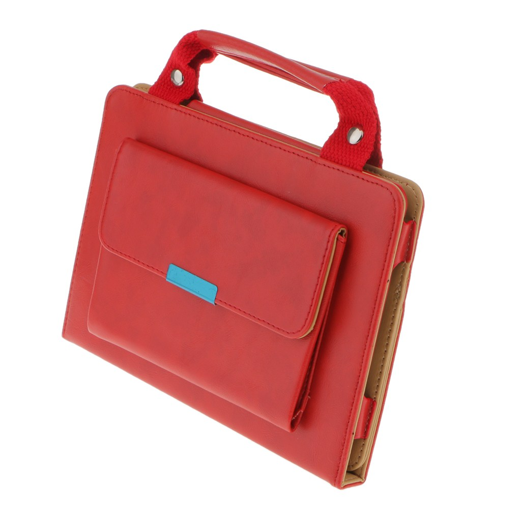 STK 핸드백 Pu 가죽 마그네틱 스마트 스탠드 케이스 커버, 빨간, iPad Mini 1/2/3 용