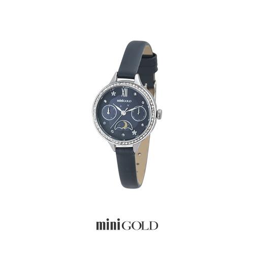 미니골드 [미니골드]트윙클 문시계 블랙 W169LWBL