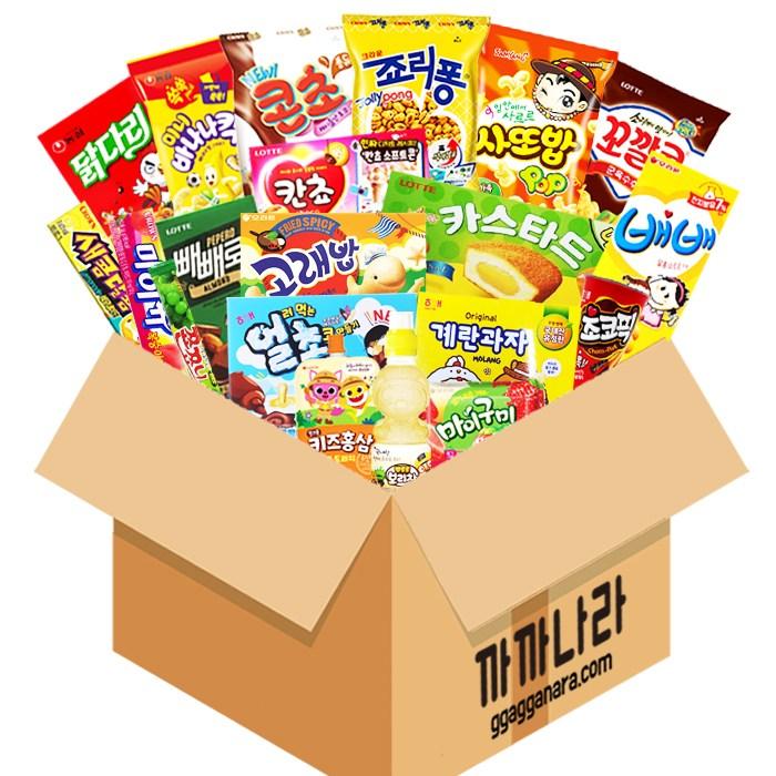 까까나라 과자 간식 랜덤 럭키박스 인기스낵 20p 선물세트, 1box, 어린이용 럭키박스(21p)