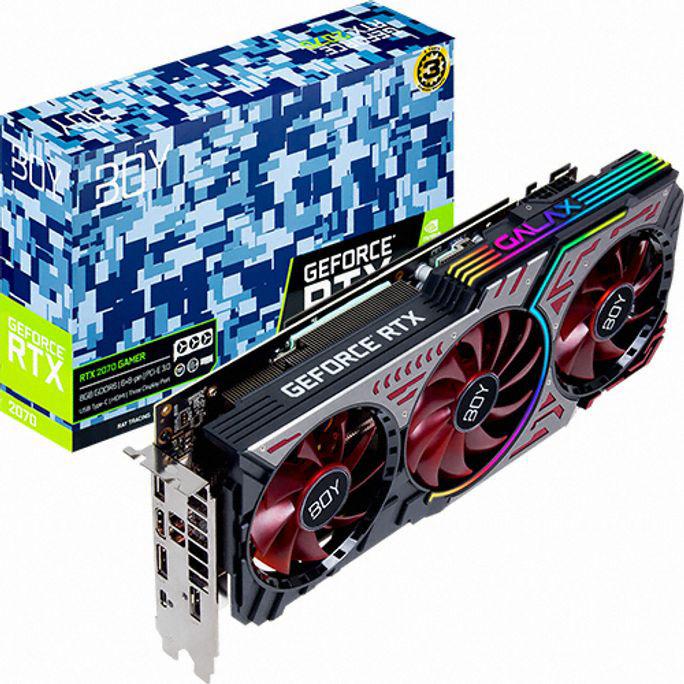 BOY 지포스 RTX 2070 GAMER OC D6 8GB gtx1660슈퍼/1660super/그랙픽카드/gtx1060/rtx2070super/rtx2060super/rx580/rx570/그래픽카드rtx2060/rx570, 단일 모델명/품번