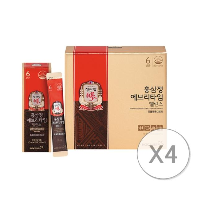 정관장 홍삼정 에브리타임 밸런스, 10ml, 120포