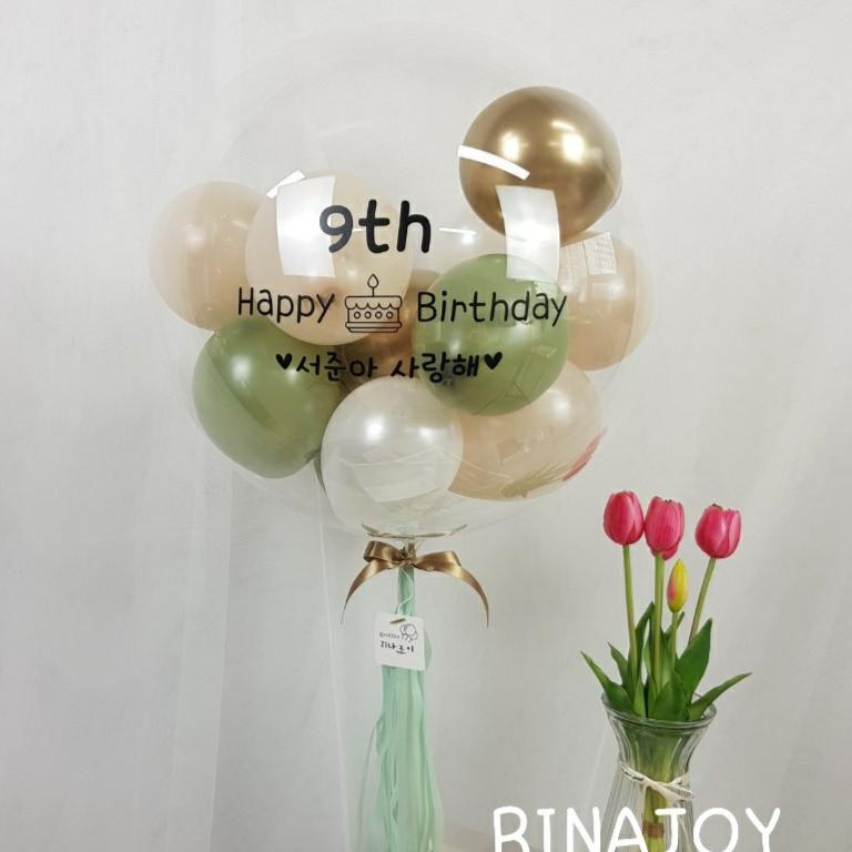 리나조이 2레터링풍선 만들기 DIY 셀프키트 환갑 고희연 돌 두돌 촬영 풍선, 1개, 02골드녹차라뗴+로즈골드