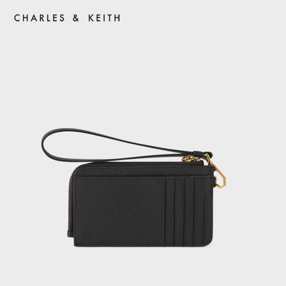 CHARLES & KEITH 2020 가을 겨울 품 CK6 - 50770461 여성 패션 엠 보 싱 지갑 카드 블랙 XS