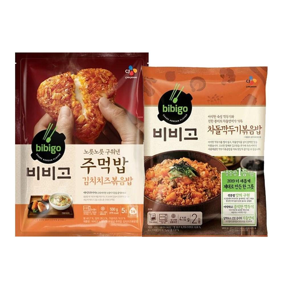 (냉동)비비고 차돌깍두기볶음밥410gx1개+주먹밥(김치치즈)볶음밥500gx1개, 1세트