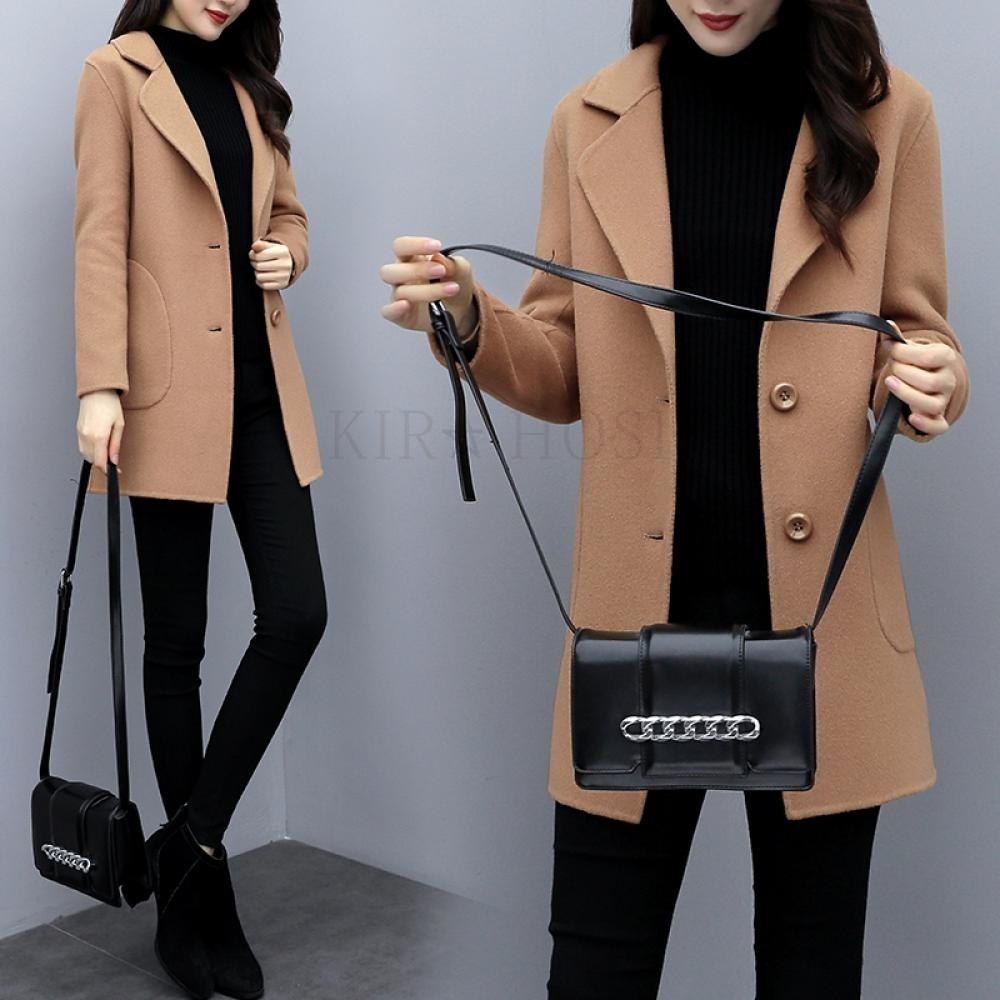 kirahosi 가을 겨울 여성 코트 자켓 엉덩이 덮는 코트 자켓 1 +덧신증정 DDych137