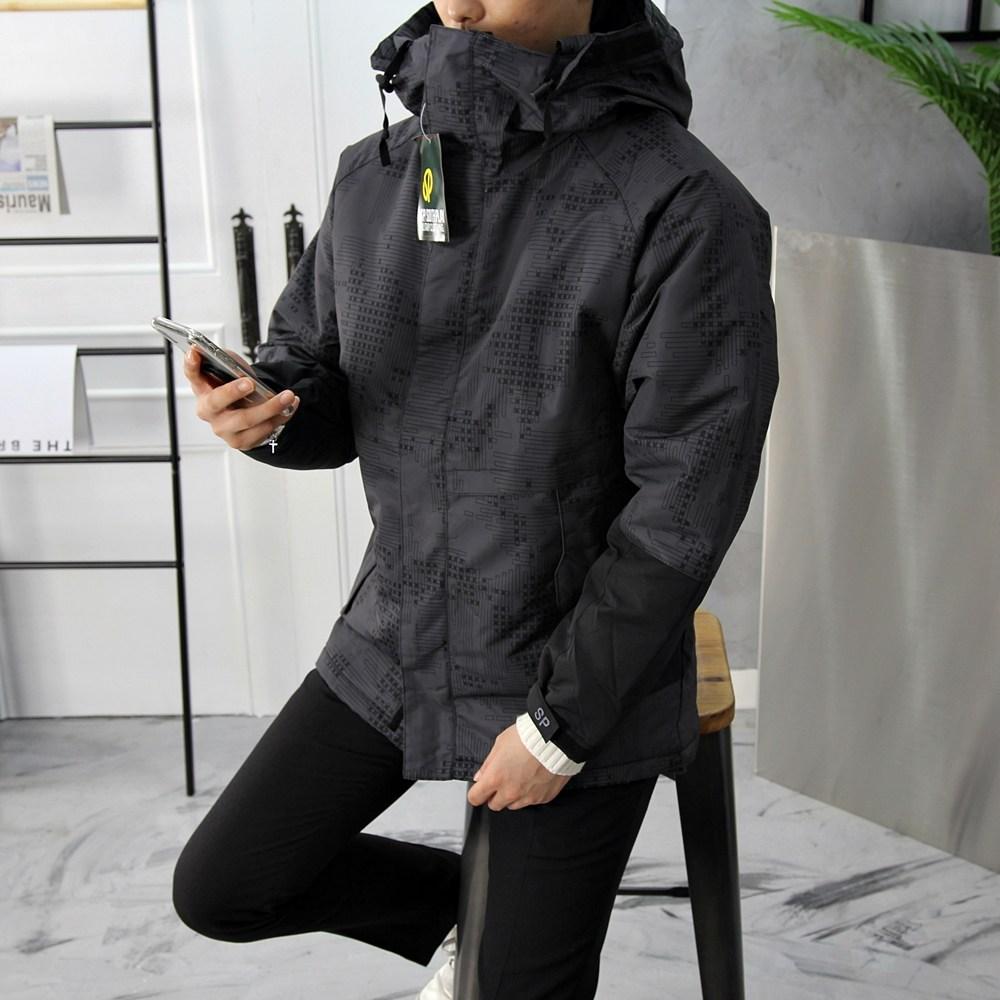고천 SP바이커 카모 방수 패딩점퍼