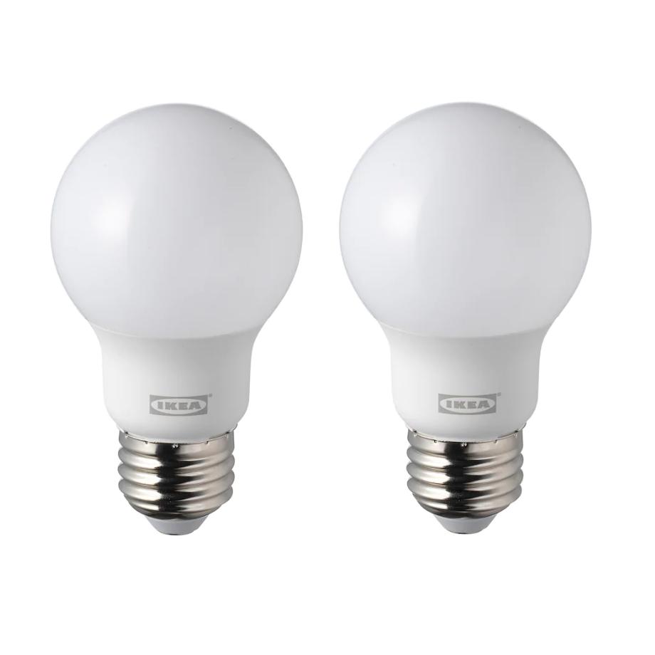 이케아 LED전구 E26 470루멘 오팔화이트 2개구성