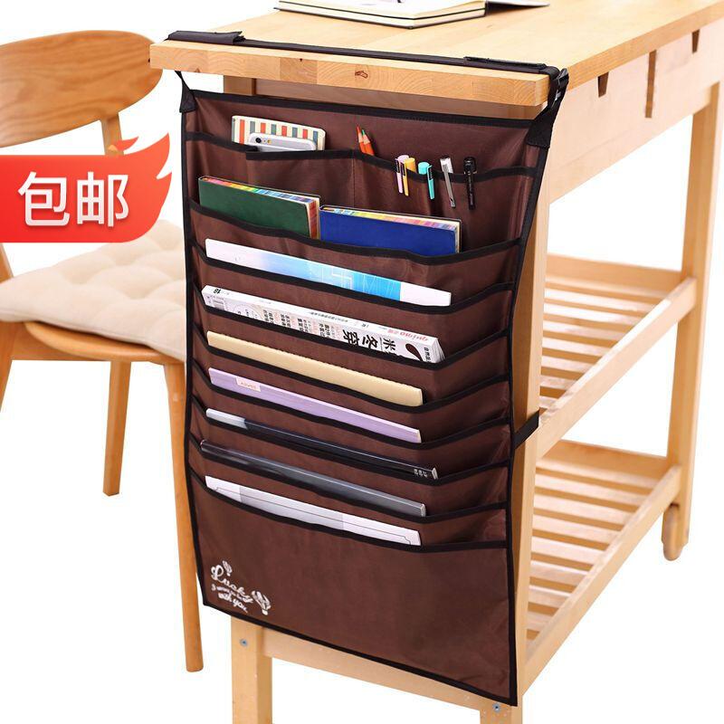 유능 하 다 (deli) 시립 책상 괘속대 책상 괘속주머니 다목 적 책상 학생 책 꾸러미 는 책 수납 주머니 를 갈색 으로 조절 할 수 있다.