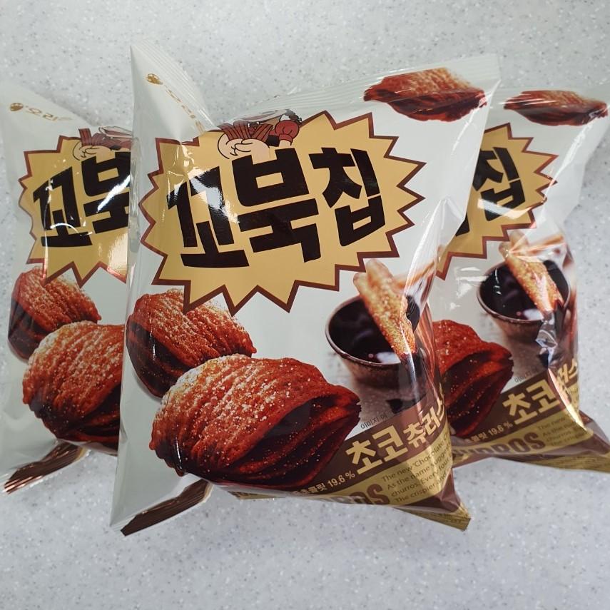 오리온 꼬북칩 초코츄러스 과자, 136g, 3개