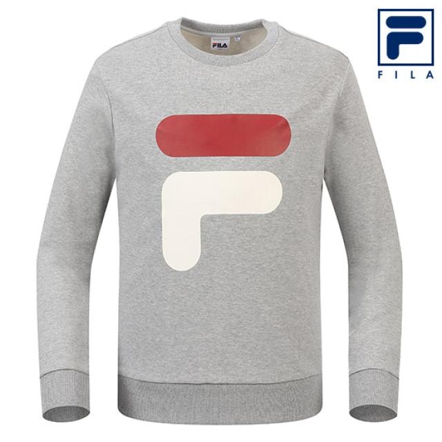 [FILA] *휠라 클리어런스세일*남녀공용 빅 F 로고 맨투맨 티셔츠_LML (FILAMS_FS2POA1006X_LML_)