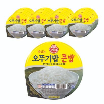 맛있는 오뚜기밥 큰밥, 300g, 48개