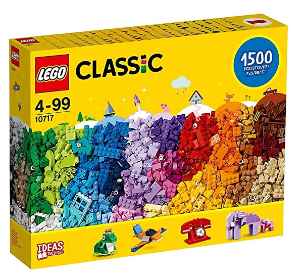 LEGO Classic 10717 Bricks Bricks Bricks 1500 Piece Set - Encourages Creativity in all Ages - Ideal f
