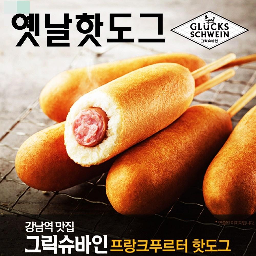 아름다운정성 옛날핫도그 그릭슈바인핫도그 영양간식, 4팩, 340g