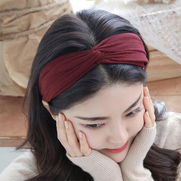미스21[미스21]멜런 탄성꼬임 헤어밴드 (hb975)