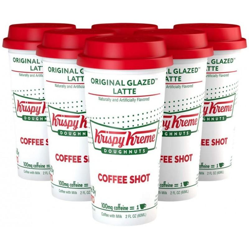 크리스피 크림 도넛 커피 오리지널 유약 라떼 커피 샷 (6 팩), 1