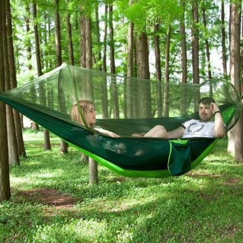공중부양 텐트 해먹 해먹 모기퇴치 1인 캠핑장 밖 하늘 천막 낙하산 모기장 그네, 01 무모기장과 초록+잉크