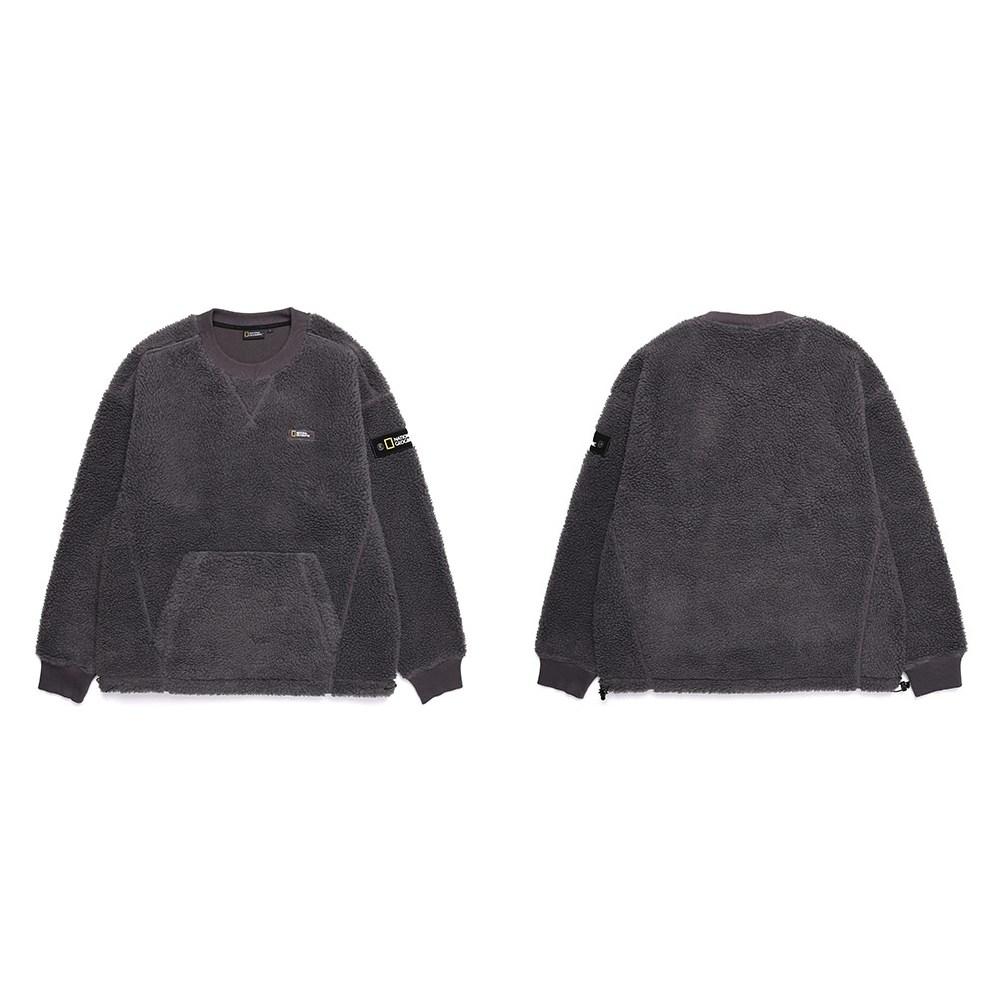 [정품매장] 내셔널지오그래픽 어너 플리스 뽀글이 맨투맨 티셔츠 N204USW130 턴잇업