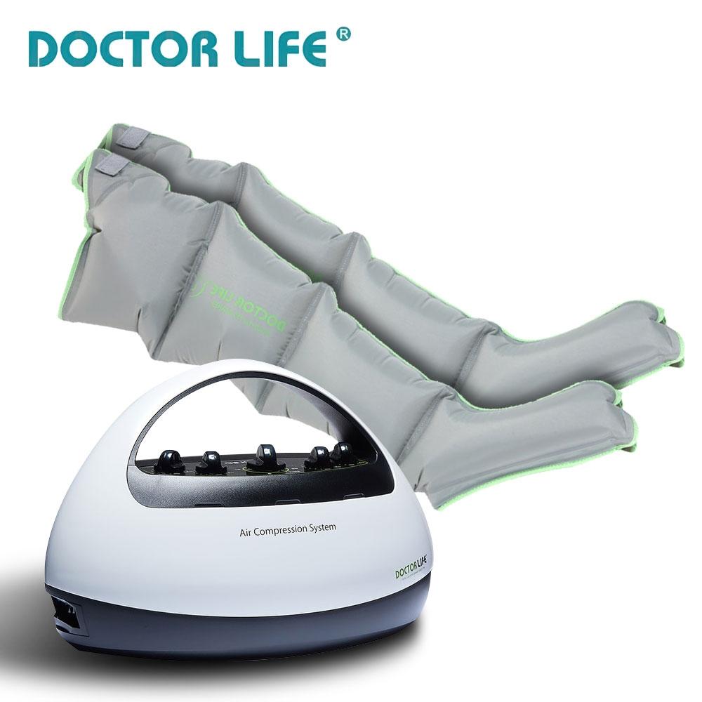 닥터라이프 에이스프리미엄 공기압 마사지기 (화이트) 본체 + 다리커프 포함 국내생산모터, ace primium