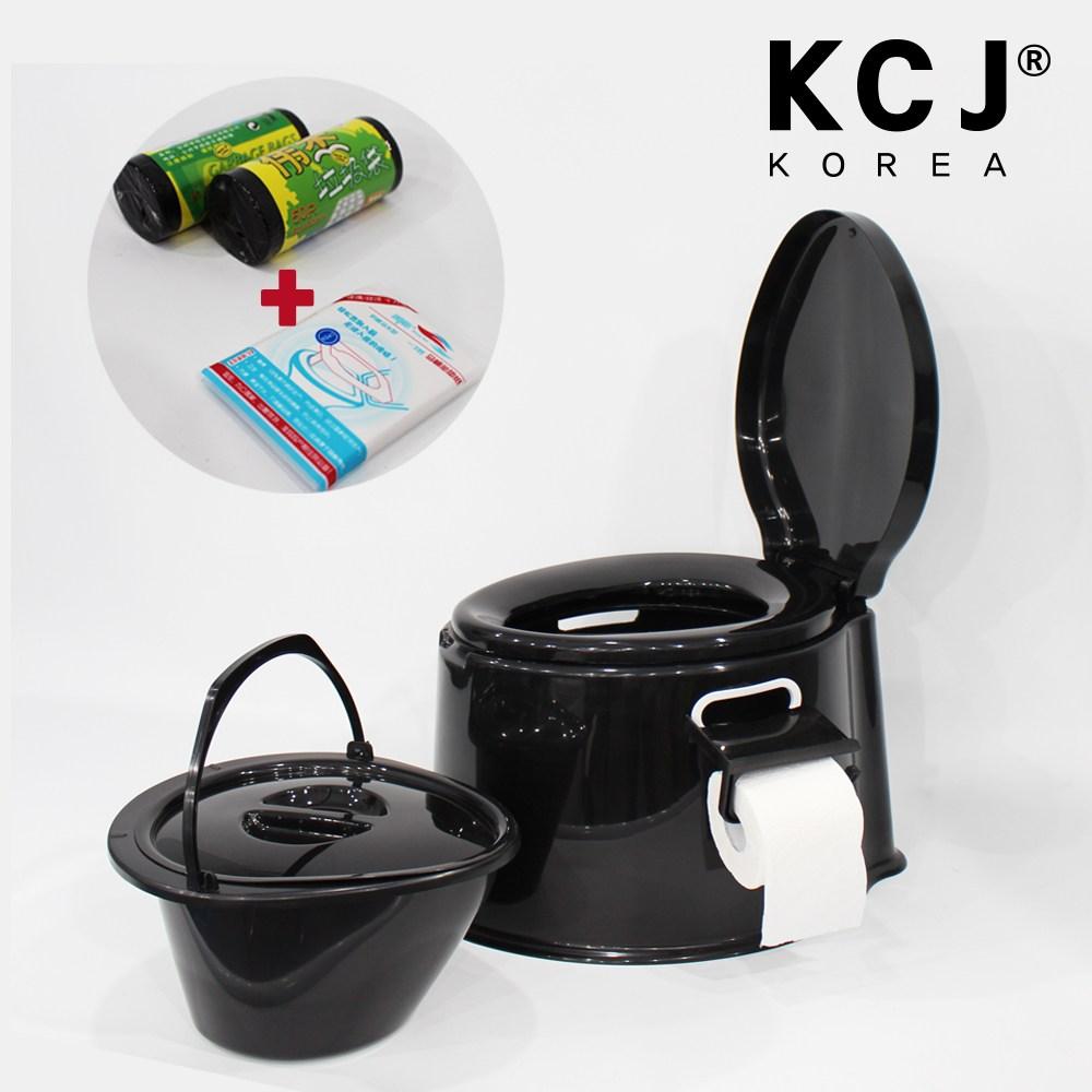 (주)KCJ 이동식좌변기-블랙, 1개
