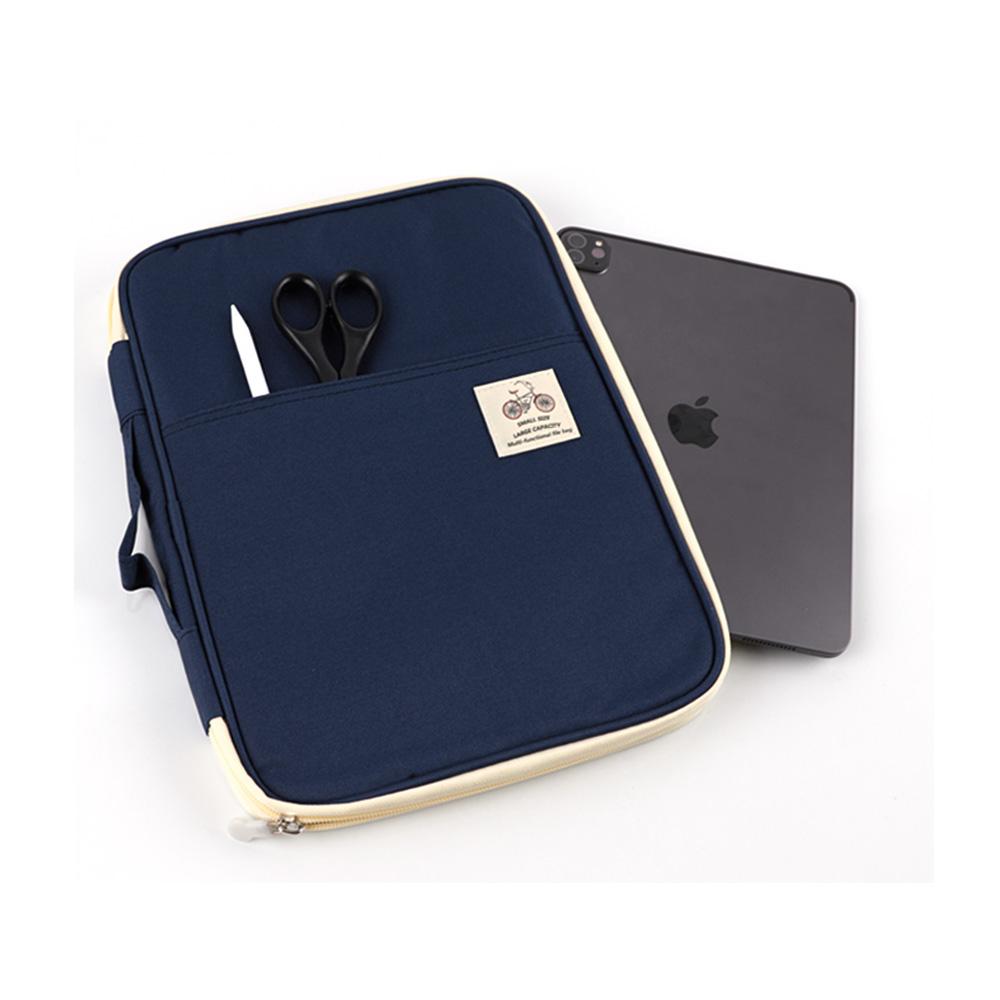헤이맨 갤럭시탭 S7 플러스 S6 라이트 멀티 오거나이저 파우치 가방, 네이비