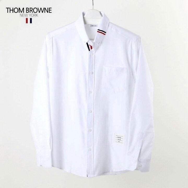 씨스타 톰브라운 카라 삼선 포인트 옥스포드 셔츠