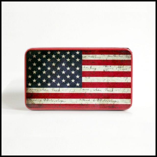 OT 틴박스 인테리어 장식 소품 수납 다용도 케이스 카페인테리어소품 카페소품 미국