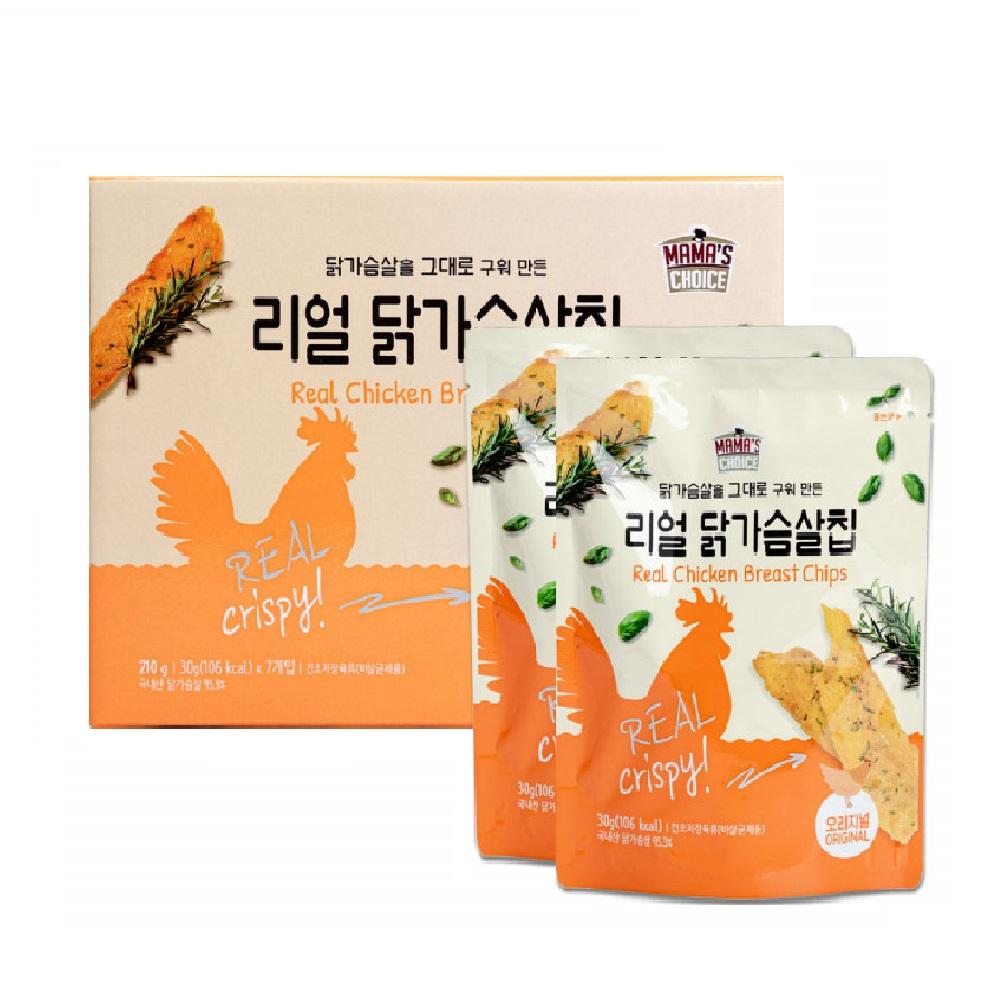 코스트코 닭가슴살칩 오리지날 단백질 간식 프로틴 과자 스낵 해썹인증 30g 7봉지, 단일상품