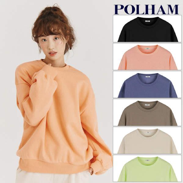 [현대백화점][폴햄] PHA4TR2020 여성용 플리스 솔리드 맨투맨 티셔츠