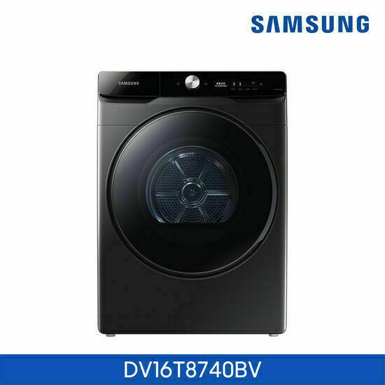 [삼성]건조기 그랑데 AI 16kg 블랙 DV16T8740BV, 색상:단독설치(무료)