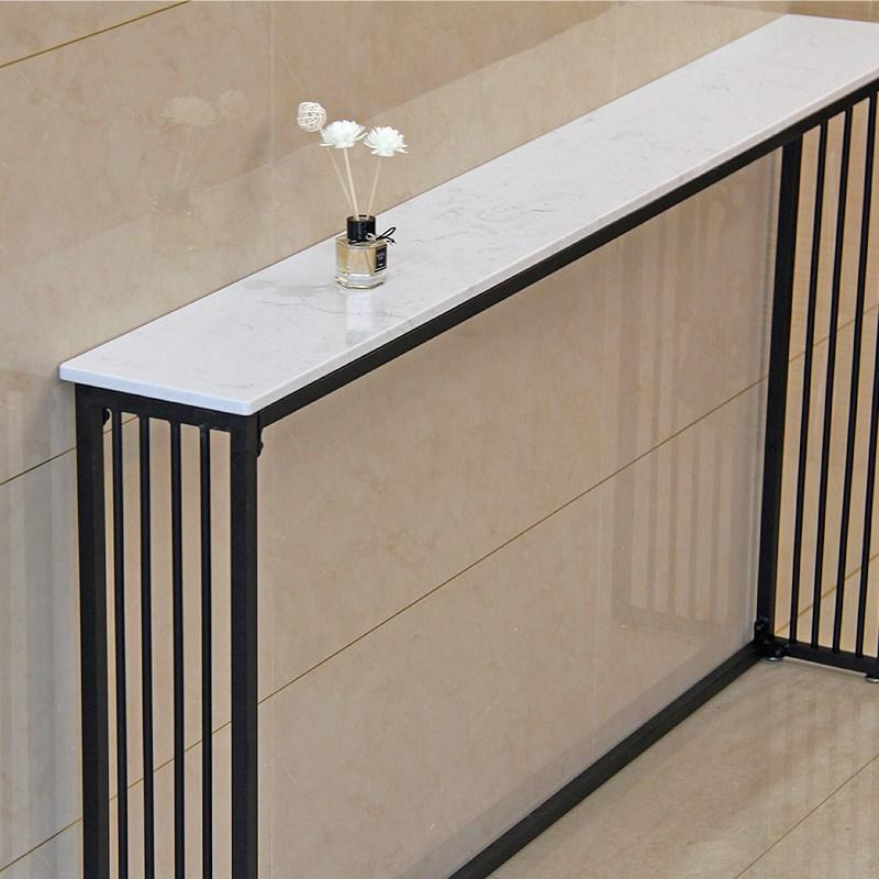 북유럽 거실 소파 벽에 뒤쪽 선반 복도콘솔 폭좁은테이블 현관 콘솔장식장, 길이 120 너비 20 높이 70 발 패드 포함