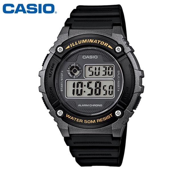 CASIO 카시오 남성 W-216H-1B 군인 군대 군용 전자 스포츠 시계