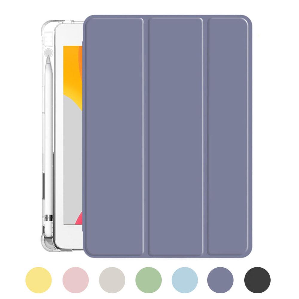 Product Image of the 아이패드 7세대 8세대 10.2 인치 수납홀더 케이스 투명 (펜촉 4pcs 증정), 라벤더
