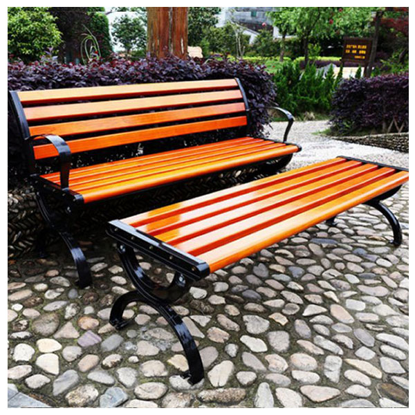 평벤치 등받이 벤치의자 야외 원목 공원 3인벤치의자, 벤치의자:120cm