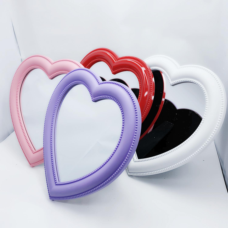 로에드 하트거울 하트탁상용거울 핑크하트벽걸이거울, 하트거울_레드