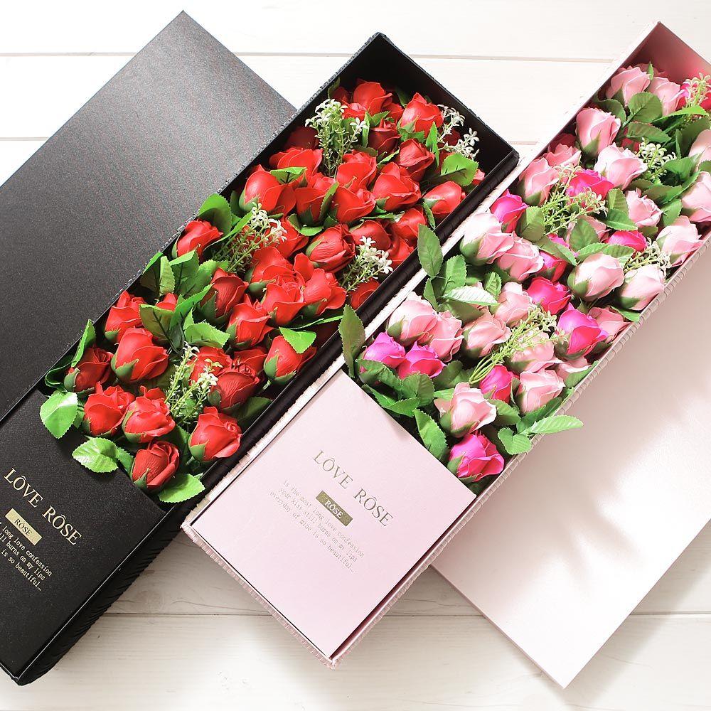 [ACI_2159616] 그레이스로즈박스 핑크 화이트데이 프로포즈 꽃다발 화이트데이상자 박스사탕포장 사탕박스포장 박스포장 포장박스